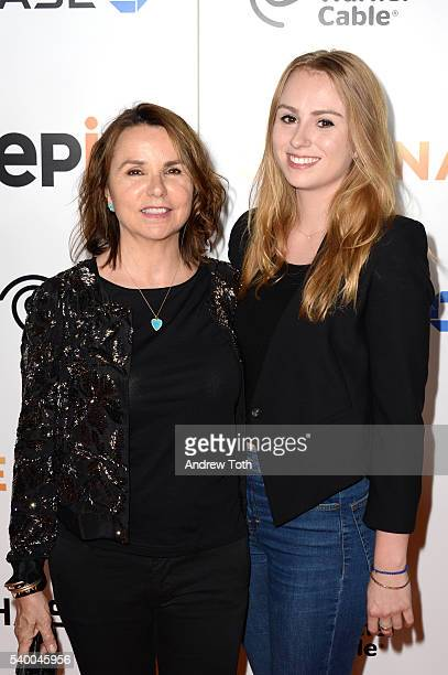 Patty Smyth and Anna McEnroe attend the premiere of EPIX original documentary Serena at SVA Theater on June 13 2016 in New York City