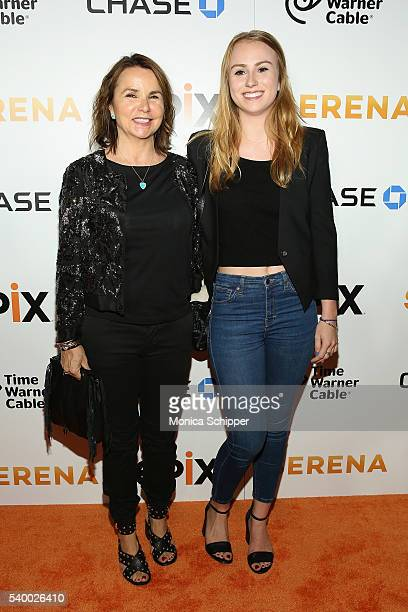 Patty Smyth and daughter Anna McEnroe attend the EPIX New York Premiere of 'Serena' on June 13 2016 in New York City