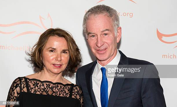 Patty Smyth and John McEnroe attend the Michael J Fox Foundation's 'A Funny Thing Happened On The Way To Cure Parkinson's' Gala at The...