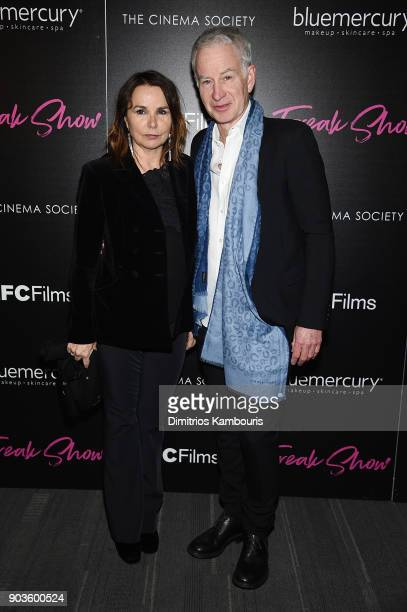 Patty Smyth and John McEnroe attend the premiere of IFC Films' 'Freak Show' hosted by The Cinema Society at Landmark Sunshine Cinema on January 10...