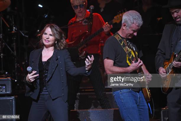 Patty Smyth and John McEnroe perform onstage during'Love Rocks NYC A Change is Gonna Come Celebrating Songs of Peace Love and Hope' A Benefit Concert...