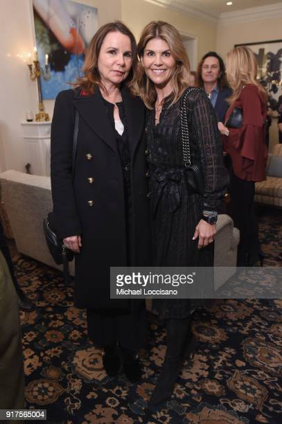 Patty Smyth and Lori Loughlin attend the Country Music Hall Of Fame And Museum Reception With Carly Pearce For All For The Hall New York on February...