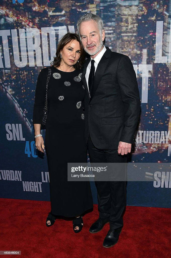 Patty Smyth (L) and tennis player John McEnroe attend SNL 40th Anniversary Celebration at Rockefeller Plaza on February 15, 2015 in New York City.