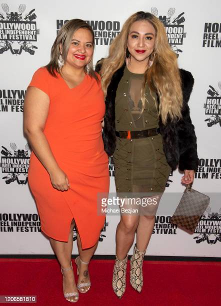 Patty Torres and Barbara Sanchez arrive at A Dark Foe Film Premiere on February 15 2020 in Los Angeles California