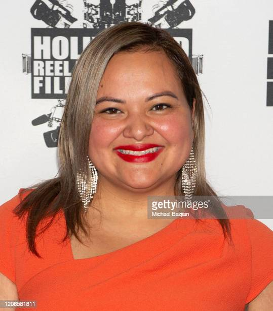 Patty Torres arrives at A Dark Foe Film Premiere on February 15 2020 in Los Angeles California