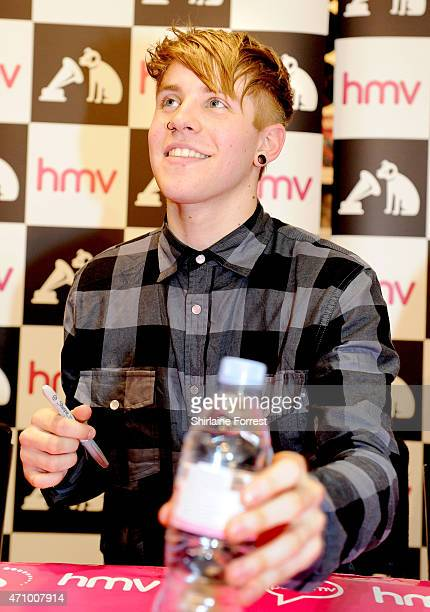 Patty Walters of As It Is performs live and signs copies of their debut album 'Never Happy Ever After' at HMV on April 24 2015 in Manchester England