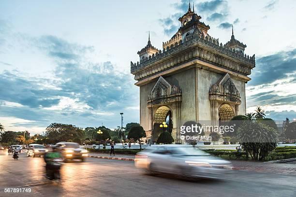 Patuxay monument in Vientiane in Laos