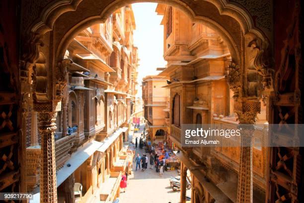patwa ki haveli, jaisalmer, rajasthan, india - rajastão imagens e fotografias de stock