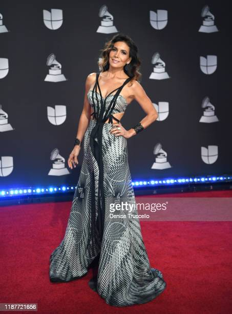 Paty Mnaterola attends the 20th annual Latin GRAMMY Awards at MGM Grand Garden Arena on November 14, 2019 in Las Vegas, Nevada.