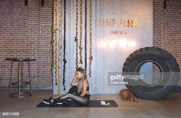 Pau Dictado attends PUMA Hosts CAMP PUMA To Launch Their Newest Women's Collection Velvet Rope at Goya Studios on August 3 2017 in Los Angeles...