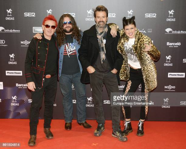 Pau Dones and Jarabe De Palo music band attend the 63th Ondas Gala Awards 2016 at the FIBES on December 12 2017 in Seville Spain