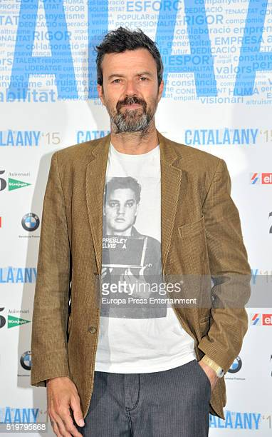 Pau Dones attends the Catalonian of The Year Award to Oscar Camps at Teatro Nacional de Cataluna on April 7 2016 in Barcelona Spain