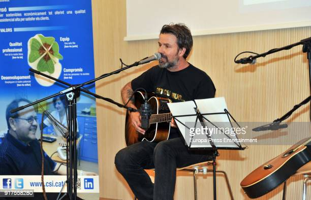 Pau Dones gives a concert at Sant Joan Despi hospital as a sign of gratitude to the hospital staff who operated on him for cancer on January 18 2018...