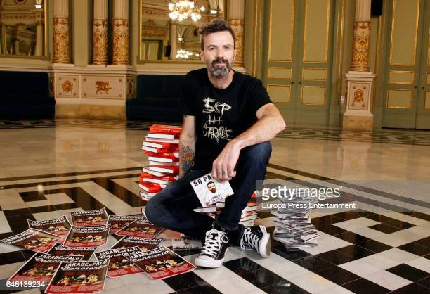 Pau Dones of 'Jarabe de palo' presents new album book and tour '50 Palos' on February 27 2017 in Barcelona Spain