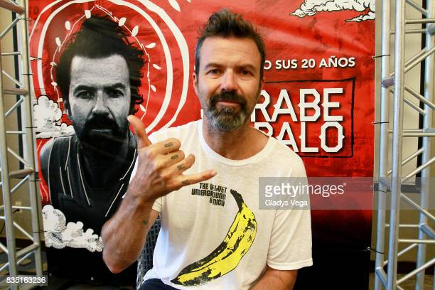 Pau Dones of Jarabe de Palo talks to media during his press conference on August 18 2017 in San Juan Puerto Rico