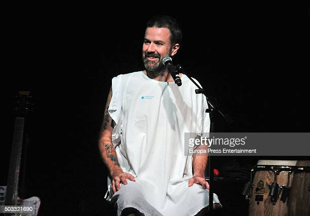 Pau Dones performs during a charity concert for cancer research on December 20 2015 in Barcelona Spain