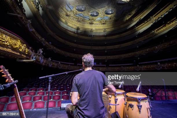 Pau Dones performs on stage during soundcheck before Jarabe de Palo concert at Gran Teatre del Liceu during Festival Milleni on May 20 2017 in...