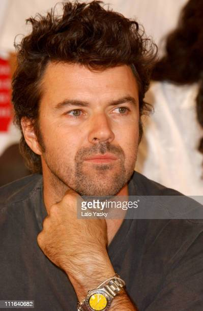 Pau DonZs of Pop band Jarabe de Palo during Spanish Latin Grammys Nominated Press Conference Madrid in Madrid Spain