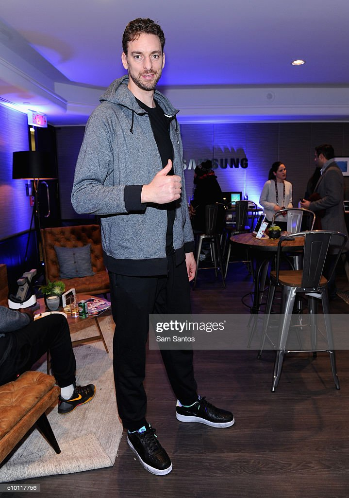 Pau Gasol at the Samsung Galaxy Lounge during NBA All-Star 2016 on February 13, 2016 in Toronto, Canada.