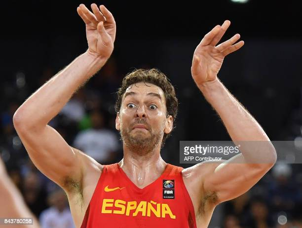 Pau Gasol of Spain during Group C of the FIBA Eurobasket 2017 mens basketball match between Hungary and Spain in Cluj Napoca on September 7 2017 /...