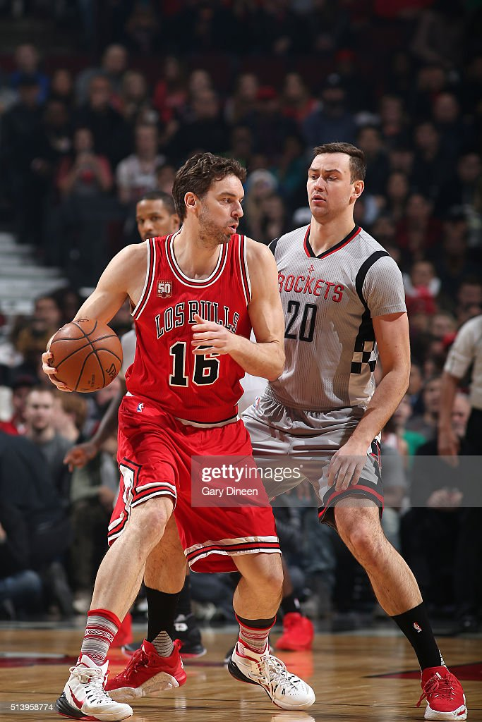 Pau Gasol of the Chicago Bulls handles the ball during the