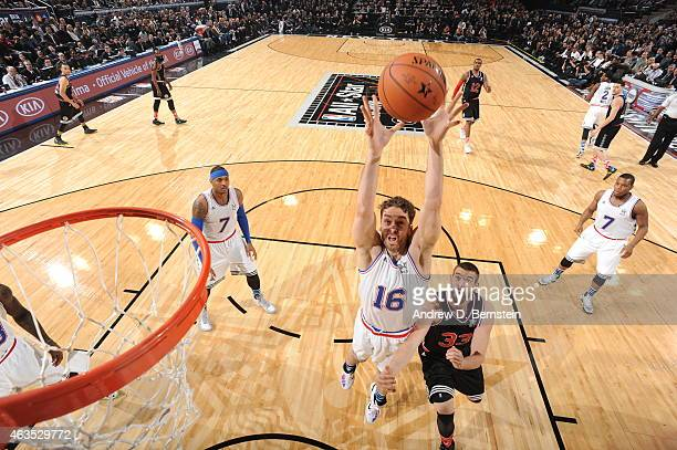 Pau Gasol of the Eastern Conference AllStars grabs a rebound against the Western Conference AllStar in the 2015 NBA AllStar Game on February 15 2015...