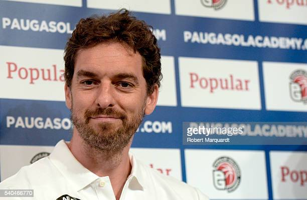 Pau Gasol presents his Pau Gasol Academy to the press on June 15 2016 in Barcelona Spain