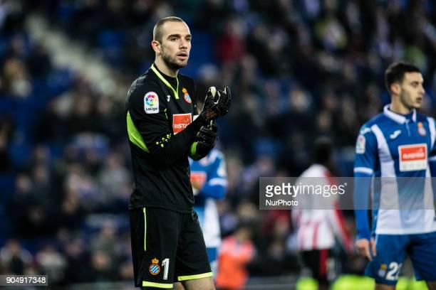 01 Pau Lopez from Spain of RCD Espanyol during La Liga match between RCD Espanyol v Athletic Club de Bilbao at RCD Stadium in Barcelona on 14 of...