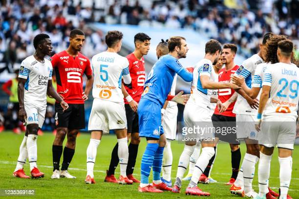 Pau LOPEZ of Marseille during the Ligue 1 Uber Eats match between Marseille and Rennes at Orange Velodrome on September 19, 2021 in Marseille, France.
