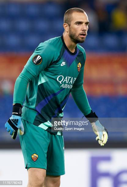 Pau Lopez of Roma looks on during the UEFA Europa League group J match between AS Roma and Istanbul Basaksehir FK at Stadio Olimpico on September 19...