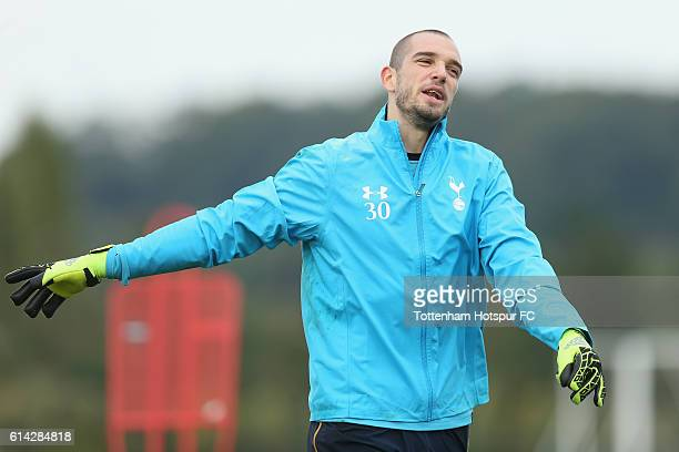 Pau Lopez of Tottenham during the Tottenham Hotspur training session at Tottenham Hotspur Training Centre on October 13 2016 in Enfield England