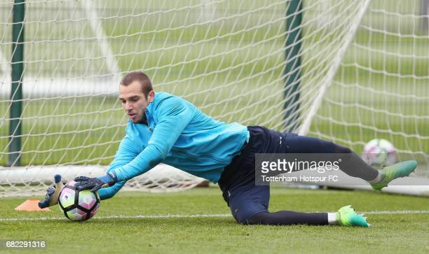 Pau Lopez of Tottenham during the Tottenham Hotspur training session at Tottenham Hotspur Training Centre on May 12 2017 in Enfield England