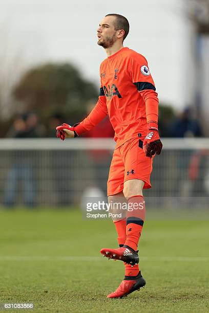 Pau Lopez of Tottenham Hotspur during the Premier League 2 match between Tottenham Hotspur and Chelsea on January 6 2017 in Enfield England