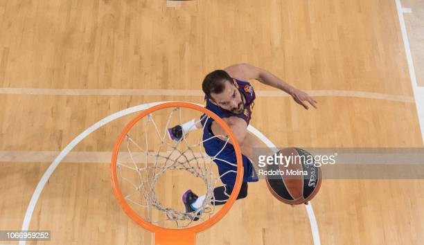 Pau Ribas #5 of FC Barcelona Lassa in action during the 2018/2019 Turkish Airlines EuroLeague Regular Season Round 10 game between FC Barcelona Lassa...