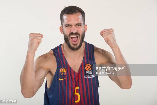 Pau Ribas #5 poses during FC Barcelona Lassa 2017/2018 Turkish Airlines EuroLeague Media Day at Palau Blaugrana on September 25 2017 in Barcelona...