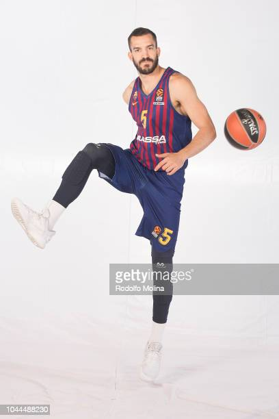 Pau Ribas #5 poses during the FC Barcelona Lassa 2018/2019 Turkish Airlines EuroLeague Media Day at Palau Blaugrana on October 1 2018 in Barcelona...