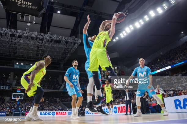 Pau Ribas during the match between FC Barcelona Lassa and Movistar Estudiantes FC Barcelona Lassa win with the score of in Liga Endesa regular season...
