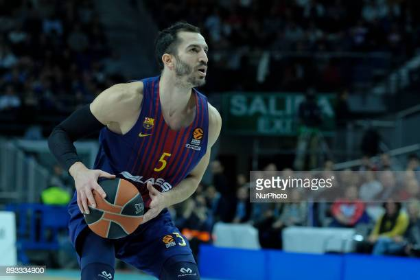 Pau Ribas of FC Barcelona Lassa during the 2017/2018 Turkish Airlines Euroleague Regular Season Round 12 game between Real Madrid v FC Barcelona...