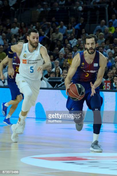 Pau Ribas of FC Barcelona Lassa during the Liga Endesa game between Real Madrid and FCB Lassa at Wizink Center on November 12 2017 in Madrid Spain