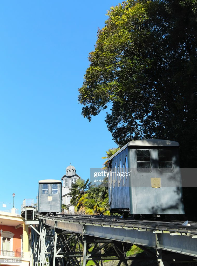 Pau, the funicular. : News Photo