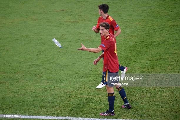 Pau Torres of Spain during the match between Spain and Sweden of Euro 2020, group E, matchday 1, played at La Cartuja Stadium on June 14, 2021 in...