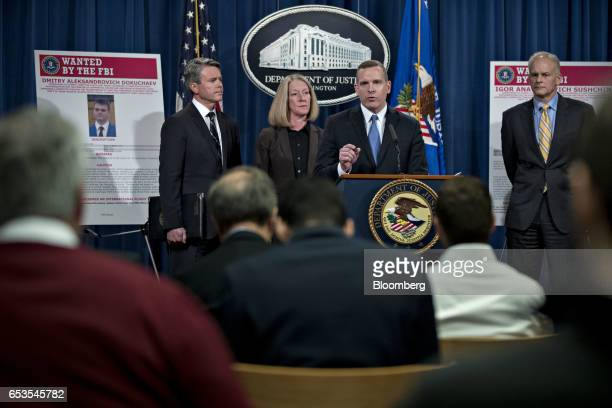 Paul Abbate executive assistant director of the Federal Bureau of Investigation criminal cyber response and services branch center speaks as Brian...