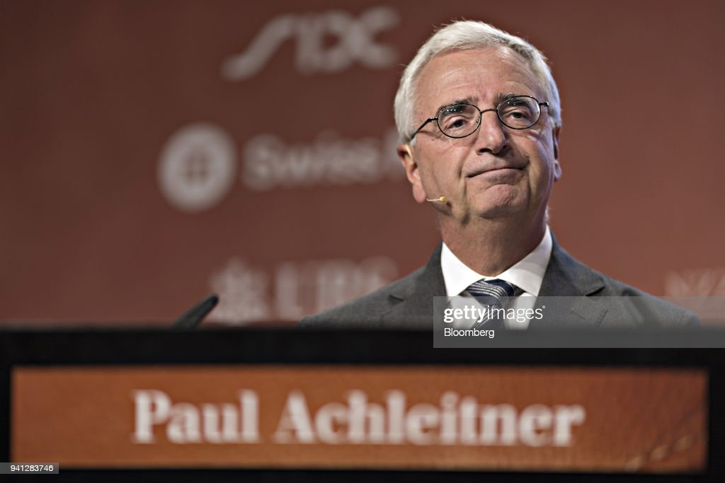 Paul Achleitner, chairman of Deutsche Bank AG, looks on during the Swiss International Finance Forum in Bern, Switzerland, on Tuesday, June 20, 2017. Deutsche Bank AG is considering candidates to potentially replace Chief Executive Officer John Cryan amid heightened tensions between him and Supervisory Board Chairman Achleitner, the Times of London reported without saying where it got the information. The bank approached Richard Gnodde, the head of Goldman Sachs Group Inc.s international operations, but hes thought to have spurned the overture, the newspaper said. Deutsche Bank also considered UniCredit SpA CEO Jean Pierre Mustier and Standard Chartered Plc CEO Bill Winters, according to the report. Our editors select the best archive images for the Deutsche story. Photographer: Michele Limina/Bloomberg via Getty Images