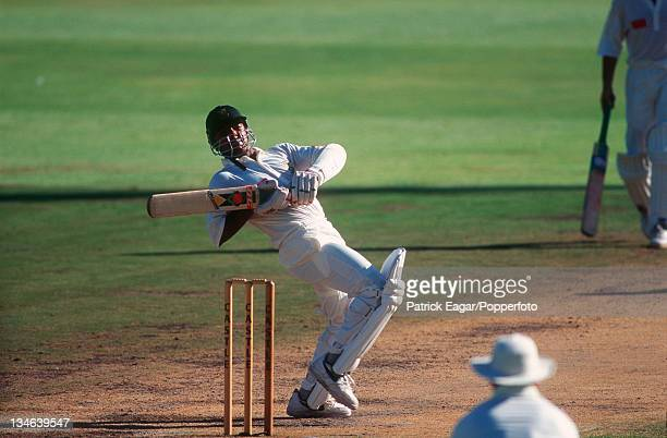 Paul Adams during his stand with Richardson South Africa v England 5th Test Cape Town Jan 96