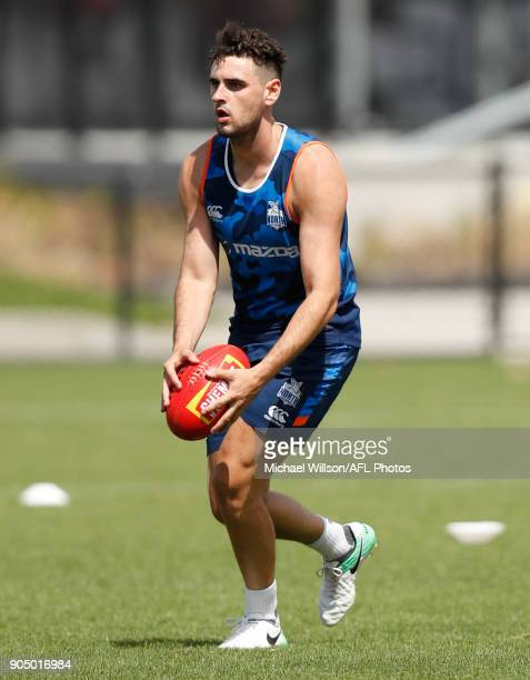 Paul Ahern of the Kangaroos in action during a North Melbourne Kangaroos Training Session at Arden Street Ground on January 15 2018 in Melbourne...