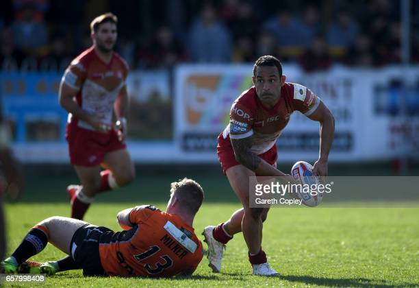 Paul Aiton of Catalans during the Betfred Super League match between Castleford Tigers and Catalans Dragons at Wheldon Road on March 26 2017 in...