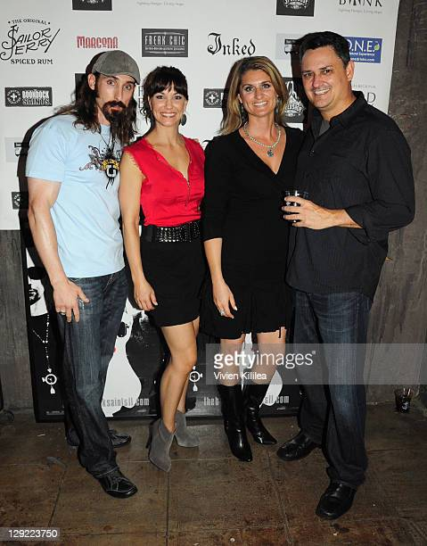 Paul Alessi Amie Barsky and guests attend 'The Boondock Saints' Bike Benefit at Tuff Sissy Co on October 13 2011 in Los Angeles California