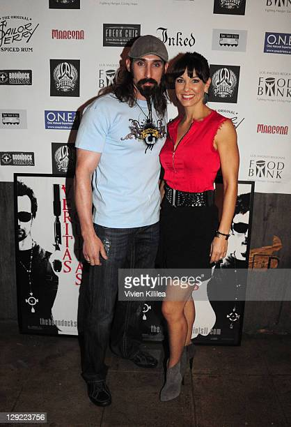 Paul Alessi and Amie Barsky attend 'The Boondock Saints' Bike Benefit at Tuff Sissy Co on October 13 2011 in Los Angeles California