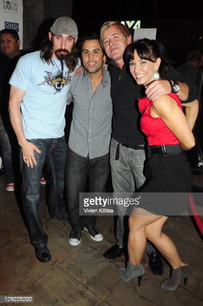 Paul Alessi Daniel DeSanto Brian Mahoney and Amie Barsky attend 'The Boondock Saints' Bike Benefit at Tuff Sissy Co on October 13 2011 in Los Angeles...