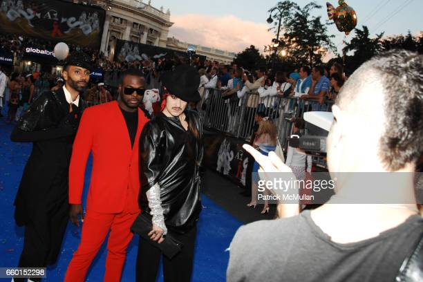 Paul Alexander Nashom and Jo Jo Americo attend Official Opening Ceremony of LIFE BALL 2009 Arrivals / Performance at Vienna City Hall on May 16 2009...